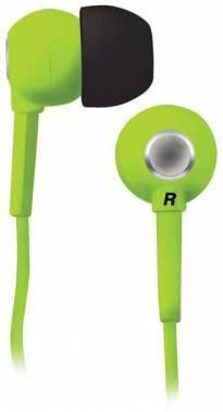 Наушники BBK EP-1200S зеленый, вкладыши, крепление в ушной раковине, проводные, прямой коннектор, кабель 1.2м