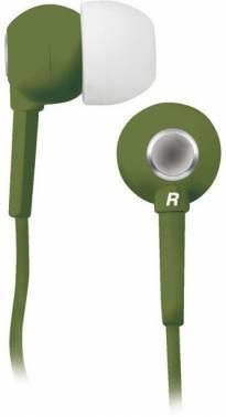 Наушники BBK EP-1200S оливковый, вкладыши, крепление в ушной раковине, проводные, прямой коннектор, кабель 1.2м