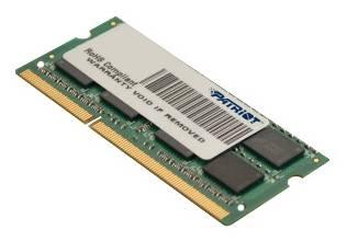 Модуль памяти Patriot PSD34G1600L81S, объем 1 х 4Gb, форм-фактор SO-DIMM 204-pin, тип памяти DDR3L, рабочая частота 1600MHz, тайминги 11-11-11, unbuffered