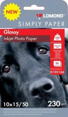 Бумага Lomond Simply (0102166) 10x15 / 230г / м2 / 50л. белый