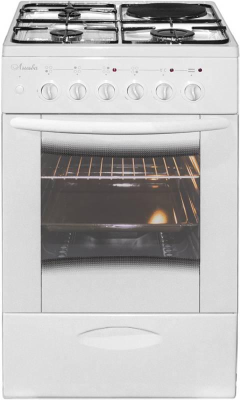 Плита комбинированная Лысьва ЭГ 1/3г01 МС-2у белый, стеклянная крышка - фото 1
