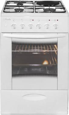 Плита комбинированная Лысьва ЭГ 1/3г01 МС-2у белый, стеклянная крышка