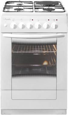 Плита комбинированная Лысьва ЭГ 1/3г01 М2С-2у белый, стеклянная крышка