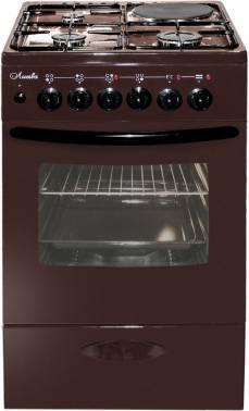Плита комбинированная Лысьва ЭГ 1/3г01 МС-2у коричневый, без крышки