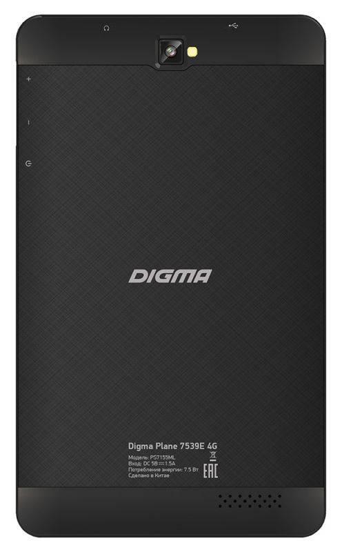 """Планшет 7"""" Digma Plane 7539E 4G 16ГБ черный (PS7155ML) - фото 2"""