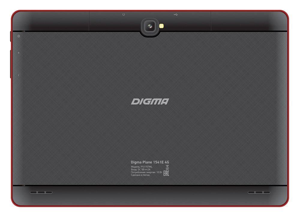 """Планшет 10.1"""" Digma Plane 1541E 4G 16ГБ черный - фото 2"""