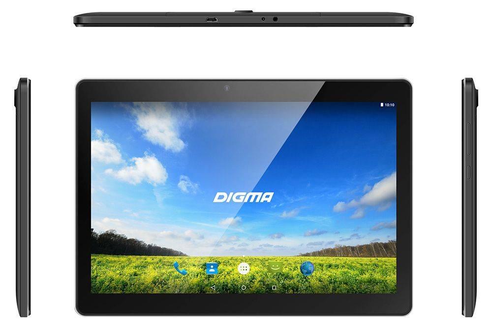 """Планшет 10.1"""" Digma Plane 1550S 3G 8ГБ черный - фото 3"""