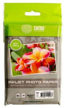 Фотобумага Cactus (CS-GA623050ED) 10x15 / 230г / м2 / 50л. белый