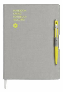 Записная книжка Carandache Office серый + ручка шариковая 849 желтый (8491.401)