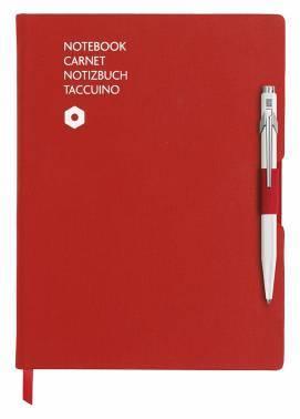 Записная книжка Carandache Office красный + ручка шариковая 849 белый (8491.403)