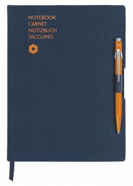 Записная книжка Carandache Office синий + ручка шариковая 849 оранжевый (8491.404)