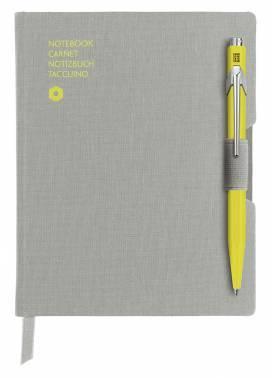 Записная книжка Carandache Office (8491.451) серый A6 192стр. в линейку в компл.:ручка шариковая 849 желтый