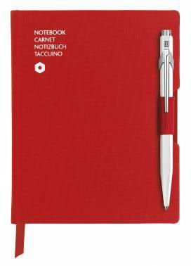 Записная книжка Carandache Office (8491.453) красный A6 192стр. в линейку в компл.:ручка шариковая 849 белый