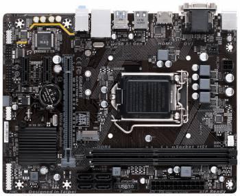 Материнская плата Gigabyte GA-H110M-M.2, гнездо процессора LGA 1151, чипсет Intel H110, память 2xDDR4, форм-фактор mATX, звук AC`97 8ch(7.1), разъемы GbLAN+VGA+DVI+HDMI