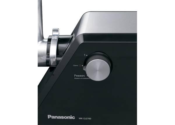 Мясорубка Panasonic MK-ZJ2700KTQ черный/серебристый - фото 2