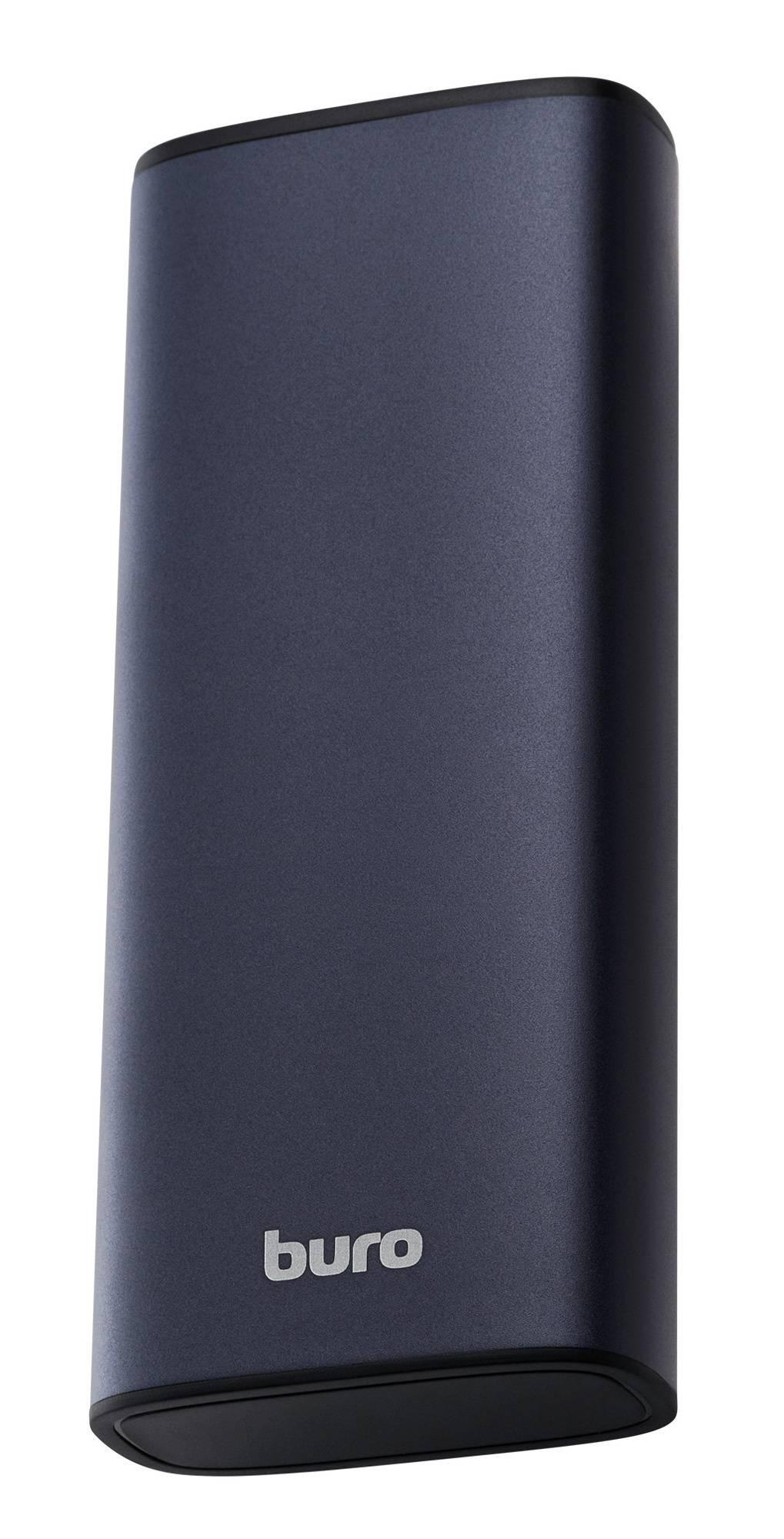 Мобильный аккумулятор BURO RB-10000-QC3.0-I&O серебристый - фото 1