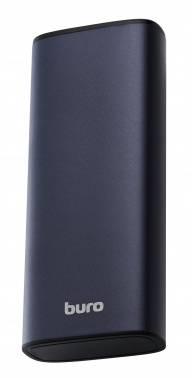 Мобильный аккумулятор BURO RB-10000-QC3.0-I&O серебристый