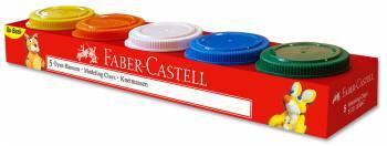Пластилин Faber-Castell, 5 цветов (120047)