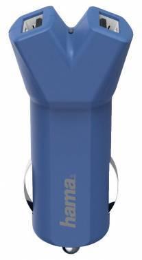 Автомобильное зар. / устр. Hama Design Line синий (00178210)