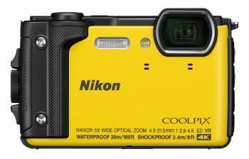 Фотоаппарат Nikon CoolPix W300 желтый (VQA072E1)