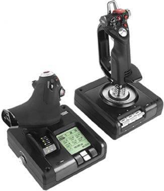 Геймпад Logitech G Saitek X52 Pro Flight Control System черный (945-000003)