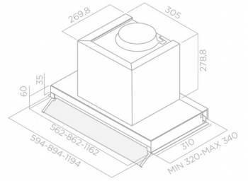 Встраиваемая вытяжка Elica Boxin PLUS IXGL/A/120 нержавеющая сталь (PRF0097797)