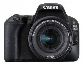 Фотоаппарат Canon EOS 200D черный, 1 объектив EF-S 18-55mm f / 3.5-5.6 DC III