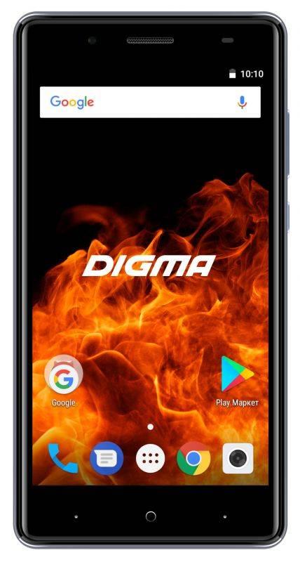 Смартфон Digma FIRE 4G VOX 8ГБ серый (VS5037PL) - фото 1