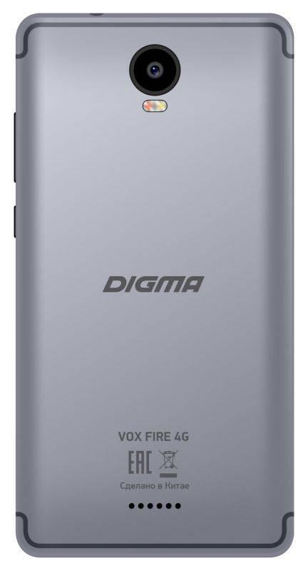 Смартфон Digma FIRE 4G VOX 8ГБ серый (VS5037PL) - фото 2