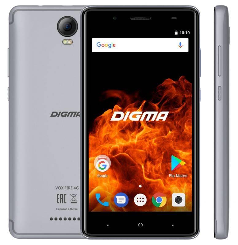 Смартфон Digma FIRE 4G VOX 8ГБ серый (VS5037PL) - фото 3