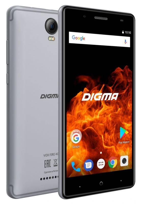 Смартфон Digma FIRE 4G VOX 8ГБ серый (VS5037PL) - фото 4