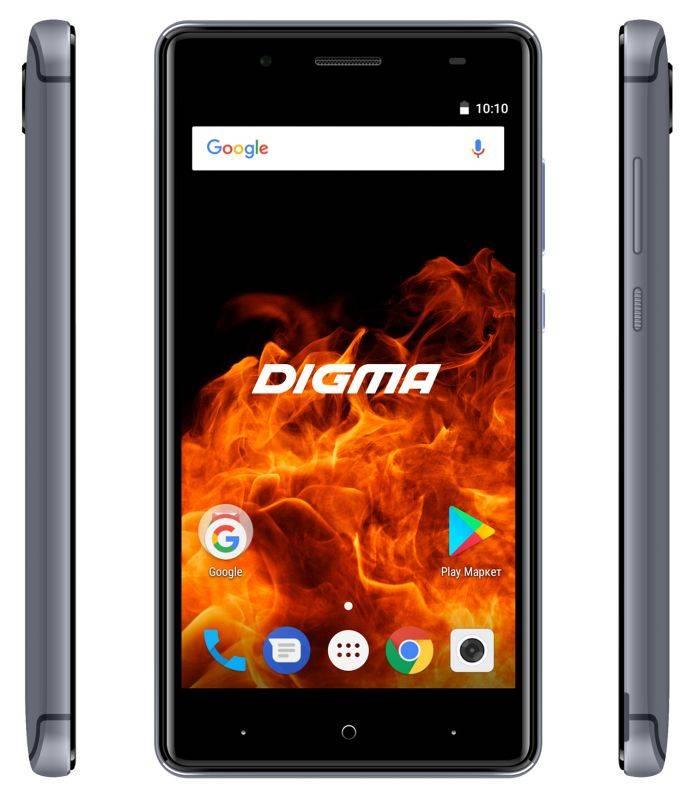 Смартфон Digma FIRE 4G VOX 8ГБ серый (VS5037PL) - фото 5
