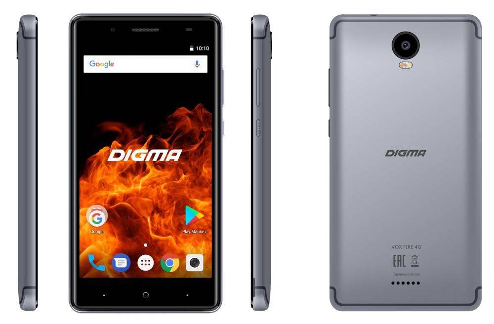 Смартфон Digma FIRE 4G VOX 8ГБ серый (VS5037PL) - фото 6