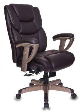 Кресло руководителя Бюрократ T-9999 коричневый (T-9999/BROWN)