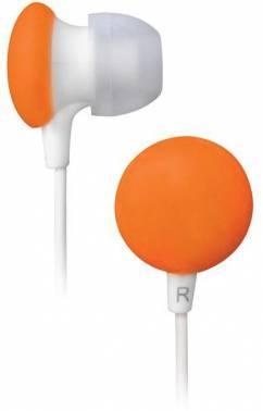 Наушники BBK EP-1170S оранжевый, вкладыши, крепление в ушной раковине, проводные, прямой коннектор, кабель 1.2м