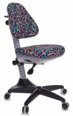 Кресло детское Бюрократ KD-2 синий (KD-2/G/PENCIL-BL)