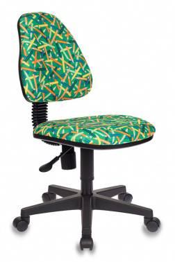 Кресло детское Бюрократ KD-4 зеленый (kd-4/pencil-gn)