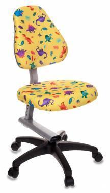 Кресло детское Бюрократ KD-8 / DINO-Y желтый
