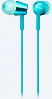 Гарнитура Sony MDR-EX155AP голубой (MDREX155APL.E)