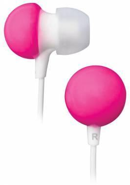 Наушники BBK EP-1140S белый/розовый, вкладыши, крепление в ушной раковине, проводные, прямой коннектор, кабель 1.2м