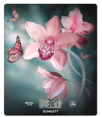 Кухонные весы Scarlett SC-KS57P31 рисунок/орхидея (SC - KS57P31)
