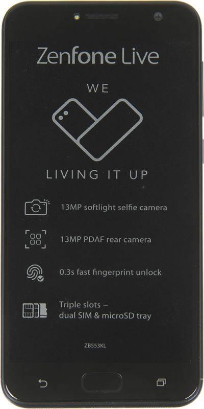 Смартфон Asus Zenfone Live ZB553KL 16ГБ черный - фото 2