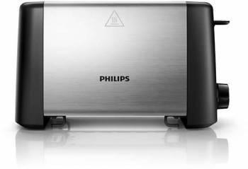 Тостер Philips HD4825 / 90 черный / серебристый