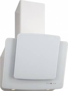 Каминная вытяжка Elikor Кварц 60П-1000-Е4Д белый / белое стекло