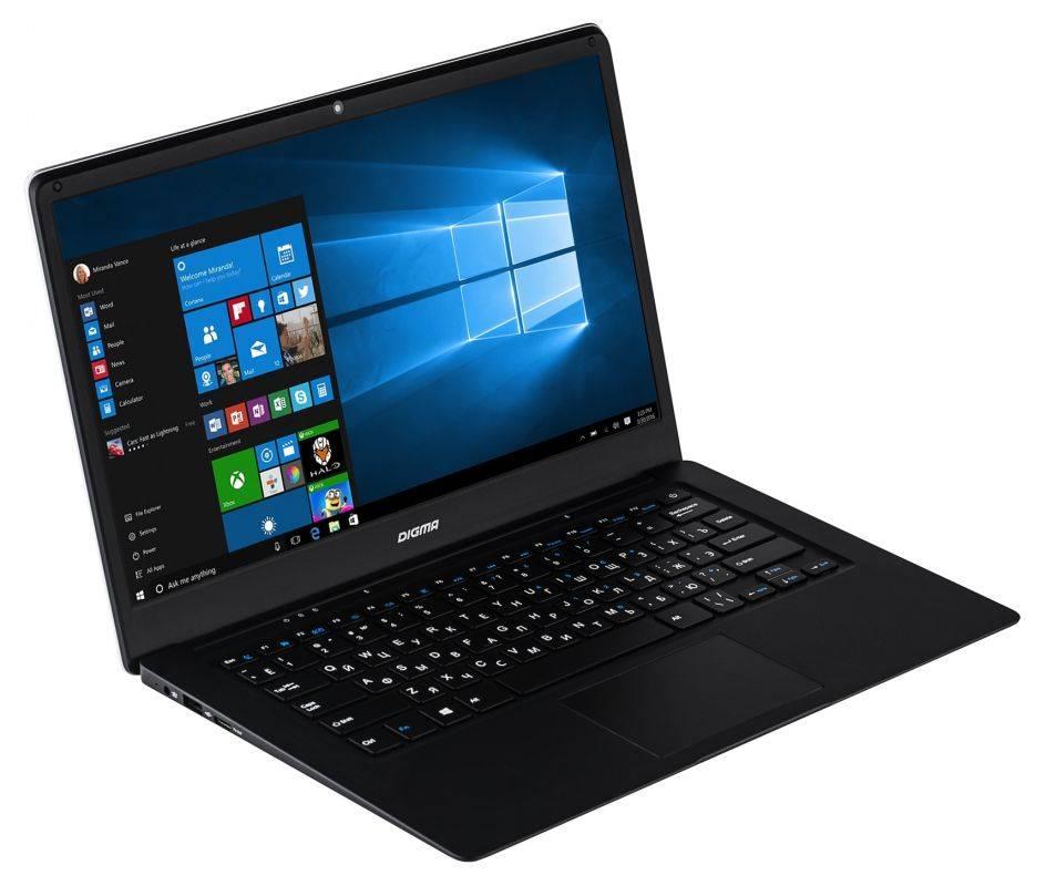 """Ноутбук 14.1"""" Digma EVE 1401 черный/серебристый - фото 1"""