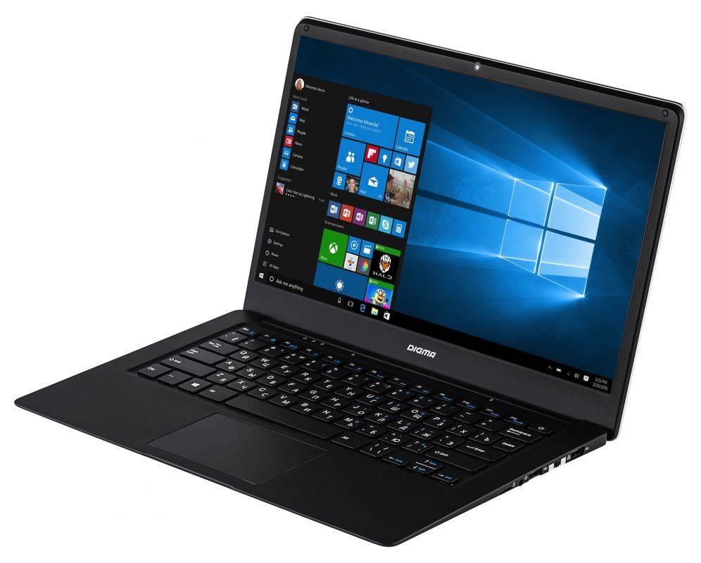 """Ноутбук 14.1"""" Digma EVE 1401 черный/серебристый - фото 2"""
