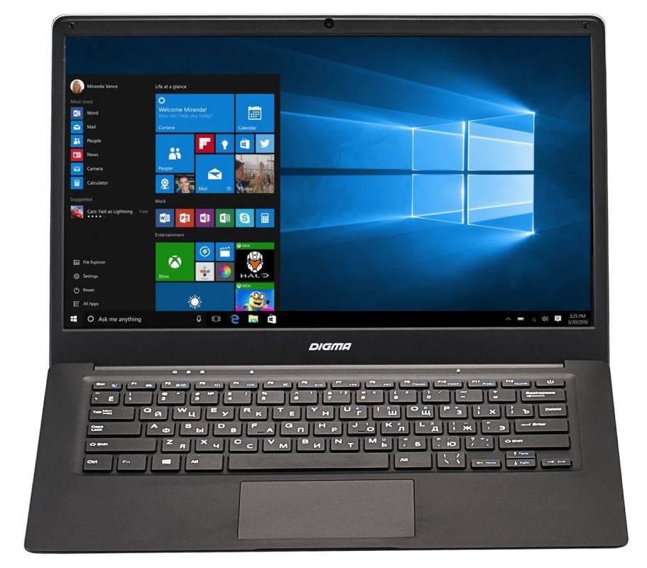 """Ноутбук 14.1"""" Digma EVE 1401 черный/серебристый (ET4012EW) - фото 5"""