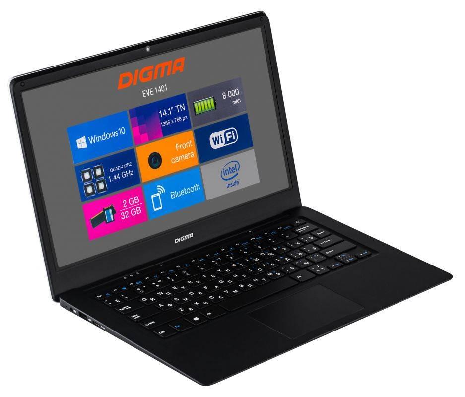 """Ноутбук 14.1"""" Digma EVE 1401 черный/серебристый (ET4012EW) - фото 6"""