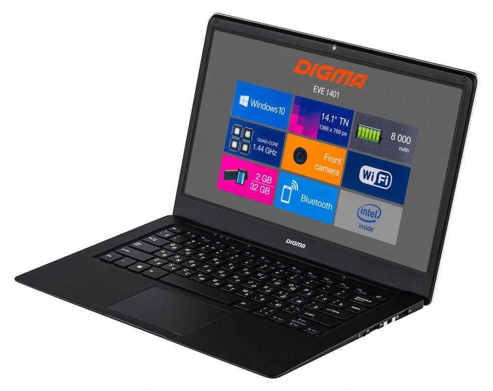 """Ноутбук 14.1"""" Digma EVE 1401 черный/серебристый (ET4012EW) - фото 7"""