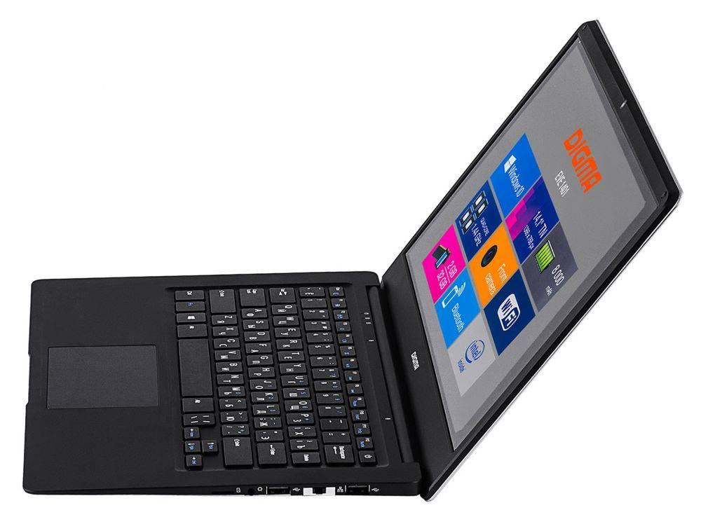 """Ноутбук 14.1"""" Digma EVE 1401 черный/серебристый - фото 9"""